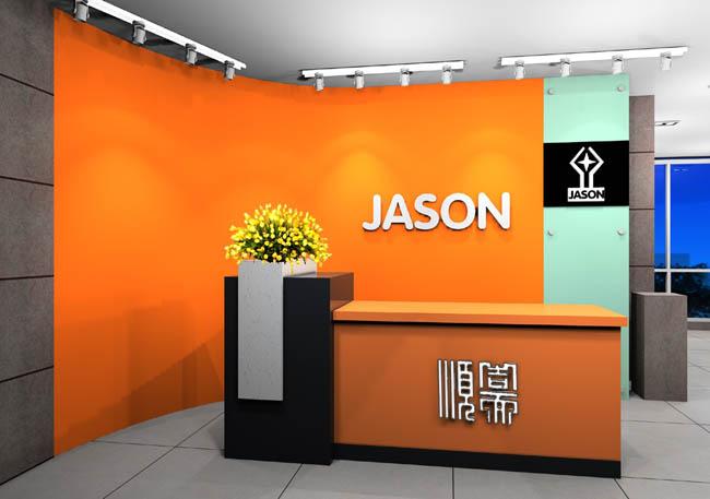 办公室前台背景墙logo装修设计