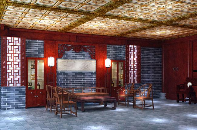 在进行茶楼的经营和室内空间的设计尺寸,应注重文化氛围的缔造。可根据散座空间、结构、风格,摆放数目不等的桌椅,常选用的中式家。具有八仙桌、圆桌、长桌、靠背椅、官帽椅等,另外,经过改良的中式沙发也比较常见。大厅内通常设置小型表演台,提供茶艺、曲艺等表演,也有的仅设一张琴桌,用以演奏乐曲。为了营造氛围,大厅内一般还会布置儿处人造景观。散座的样式分为以下几种: