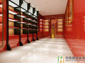 中式风格古井贡酒专卖店装修设计
