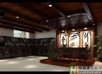 茶叶市场徽派中式茶楼装修设计
