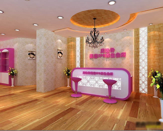 活动美容院室内布置图片